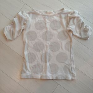 Persnickety Gray dot top